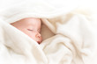 Baby sleeping covered with soft blanket - 80640313