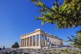 Fototapeta Acropolis with Parthenon temple in Athens, Greece