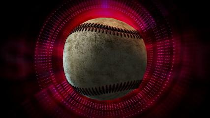 Rotating Baseball Ball as 3d Animated Sports Motion Graphics