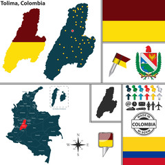 Map of Tolima, Colombia