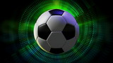 Rotating Soccer Ball 3d Animated Sport Motion Graphic Background