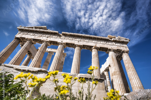 Staande foto Athene Acropolis with Parthenon temple in Athens, Greece