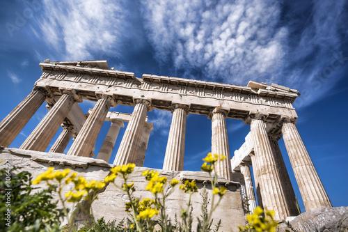 Fotobehang Athene Acropolis with Parthenon temple in Athens, Greece