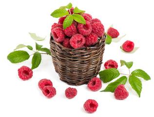 fresh raspberry in a basket
