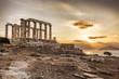 Greek temple Poseidon,  Cape Sounion in Greece