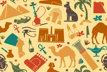 Egyptian seamless background