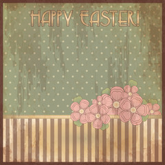 Happy Easter old cover design, vector illustration