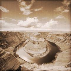 USA - Horseshoe Bend Arizona (Old photo effect)