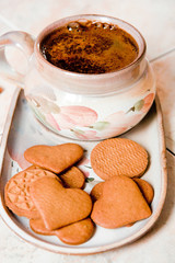 Coffee and cookies.