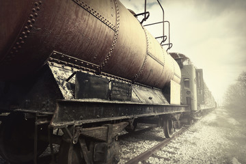 Abandoned fuel and passenger train