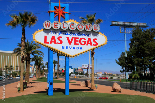 Fototapeta Welcome to Fabulous Las Vegas sign, Nevada