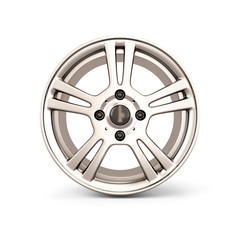 Alloy Wheel Rim front view on a white