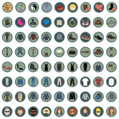 Vector Set of 49 Clothes Icons