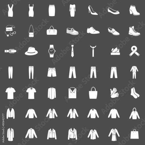 Vector Set of 49 Clothes Icons - 80642577