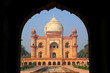 Leinwanddruck Bild - Tomb of Safdarjung seen from main gateway, New Delhi, India