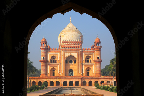Poster Tomb of Safdarjung seen from main gateway, New Delhi, India