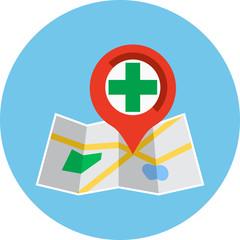 Hospital ,Pharmacy Pointer on Map Location
