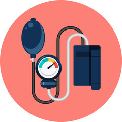 Sphygmomanometer Flat Icon