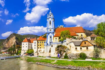 Durnstein near Vienna, lower Austria, pictoial Wachau valley
