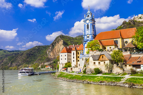 Durnstein near Vienna, lower Austria,  Wachau valley - 80643702