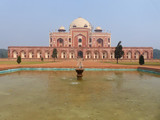 Humayun's Tomb with water pool in front of it, Delhi, India