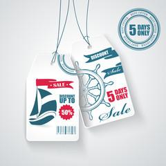 Sale tags. Vector.