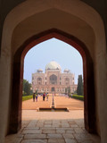 Humayun's Tomb seen through gateway in Delhi, India