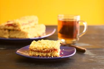 German cake called Streuselkuchen (Crumble cake)