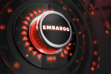 Embargo Regulator on Black Console.