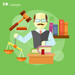 Lawyer icons concept - 80645501