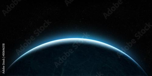 Fototapeta Rising planet