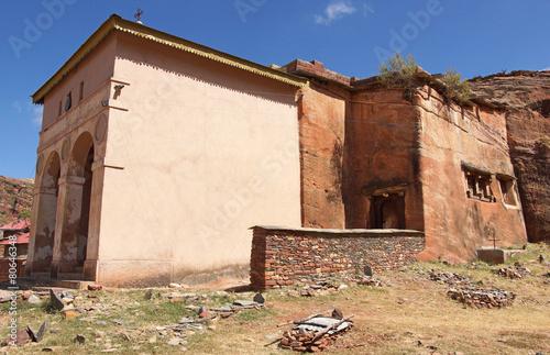 Zdjęcia na płótnie, fototapety, obrazy : Felsenkirche Abreha Atsbeha, Äthiopien, Afrika