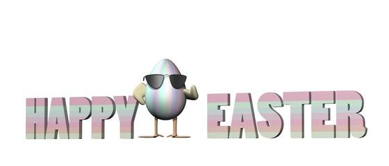 vrolijk pasen - stoer ei