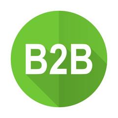 b2b green flat icon