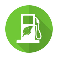biofuel green flat icon bio fuel sign