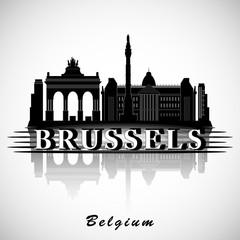 Modern Brussels City Skyline Design. Belgium