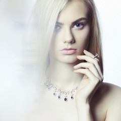 Beautiful blonde with jewelry