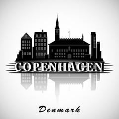 Modern Copenhagen City Skyline Design. Denmark