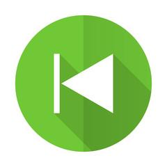 previous green flat icon