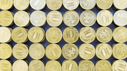 background of the 10 ruble coins