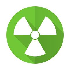 radiation green flat icon atom sign