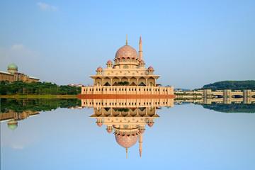 Putra Mosque is the principal mosque of Putrajaya, Malaysia.