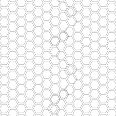 Hexagonal seamless pattern. Repeating geometric background with