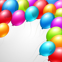 Festive Balloons real transparency. Vector illustration
