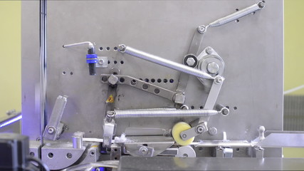 Mechanism. The production line for the production of wet wipes.