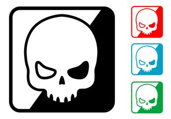 Icono simbolo calavera en varios colores