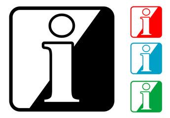 Icono simbolo informacion en varios colores