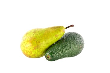 Ripe avocado and pear Conference