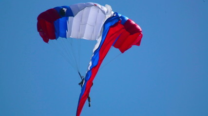 Paratrooper with flag