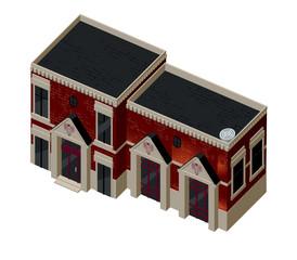 Vector illustration of 3d building